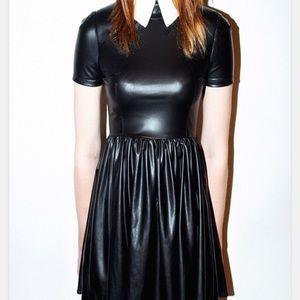Deandri PVC collar dress